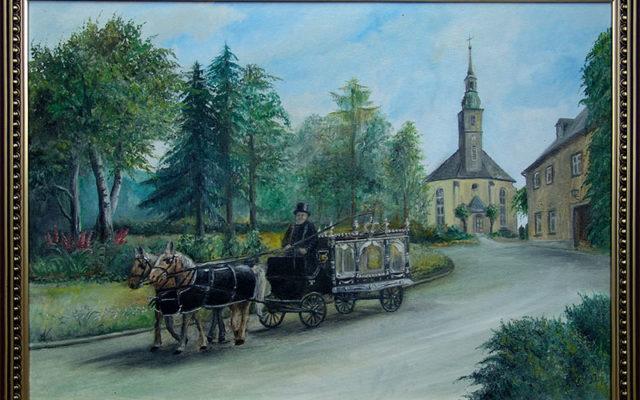 Gemälde: Leichenwagen